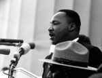 """Martin Luther King, Jr. delivers his """"I Have a Dream"""" speech in Washington, D.C."""