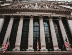 Front view of the New York Stock Exchange on Wall Street.