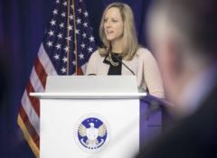 CFPB Director Kathleen Kraninger speaking at the CAB, CUAC and CBAC Public Session on March 14, 2019 in Washington, D.C.