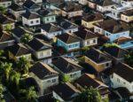 Row of houses in a dense neighborhood.