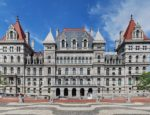 New York State Capitol viewed from the south, located on the north end of the Empire State Plaza in Albany, New York.