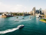 The skyline of Sydney, Australia.