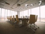 A minimalist boardroom.
