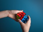 A Rubik's Cube being solved.