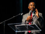 HUD Secretary Ben Carson speaking at the Real Deal Miami Showcase in October, 2019.
