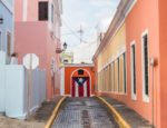 A street corner in San Juan, Puerto Rico.