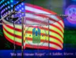 The podium at the HUD VAG 2020 Memorial Day Program, May 21, 2020.