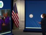 Vice President Kamala Harris swears in Marcia Fudge as the 18th Secretary of the U.S. Department of Housing and Urban Development.
