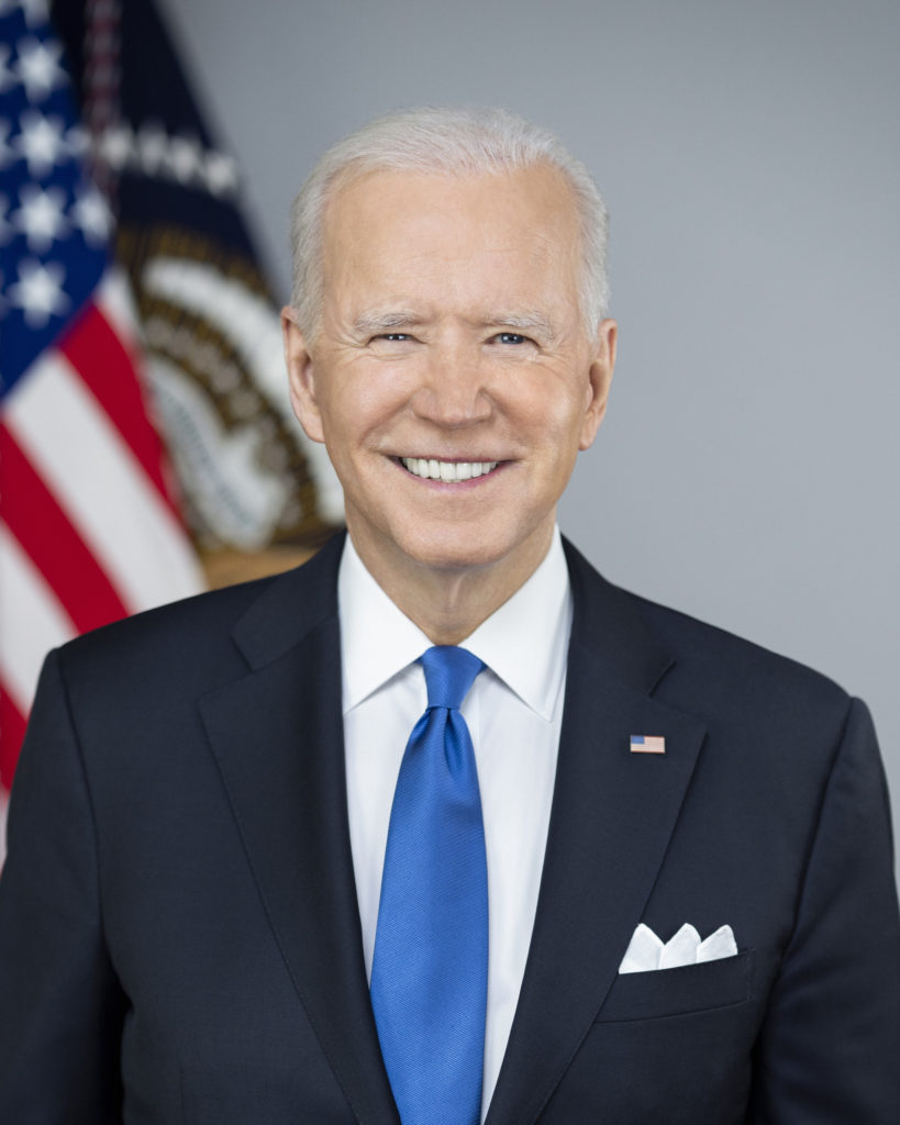 WASHINGTON (March 3, 2021) Official portrait of President Joe Biden, March 3, 2021. (U.S. Navy photo courtesy of the White House by Adam Schultz)